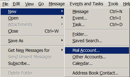 Add a new email account